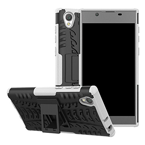 Xperia XA1 Ultra Case, Lantier Shockproof Impact Protection Tough Hard Rugged Heavy Duty Dual Layer Protective Case Cover with Kickstand for Sony Xperia XA1 Ultra G3212 G3226 6 White