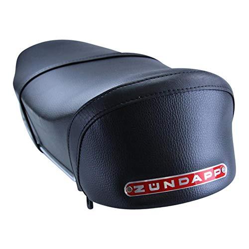 Zündapp zitbank zwart met rood embleem voor ontsteking C50 Sport GTS50 type 517 zadel dubbele naad kruk zitting dubbele zitbank