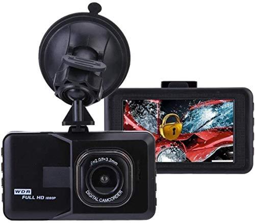 Yunbb 1080P registratore di guida, da 3 pollici dash cam Full HD DVR con grandangolare visione notturna della registrazione del ciclo di rilevazione di movimento G-sensor,Nero