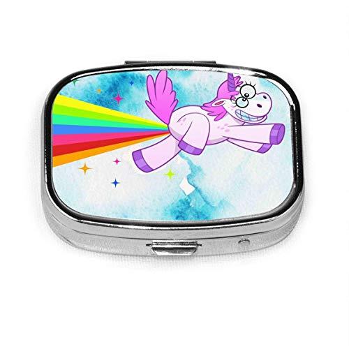 Preisvergleich Produktbild Crazy Cartoon Unicorn Fashion Pill Box Vitamin Tablet Holder Wallet Organizer Case