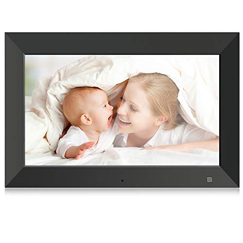 BSIMB Digital Photo Frame Digital Picture Frame 10.1 Inch 1024x600 IPS Screen with Motion Sensor/Auto Rotate/Music&Video Playback/Remote Control,Support 32GB USB Drive/SD Card M10(None WiFi)
