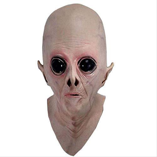 1AA Halloween Maske Alien Kopf Set UFO Kopf Set Sci-Fi Film Themen Maske Cos Horror Ghost Maske Ganz