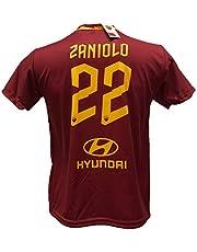 Maglia Calcio Zaniolo 22 Roma Replica Autorizzata 2019-2020 Bambino (Taglie 2 4 6 8 10 12) Adulto (S M L XL)