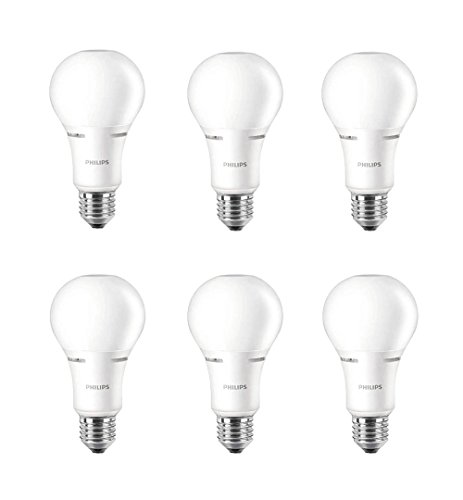 Philips LED Dimmable A21 Soft White Light Bulb with Warm Glow Effect 1100-Lumen, 2200-2700-Kelvin, 14-Watt (75-Watt Equivalent), E26 Base, Frosted, 6-Pack
