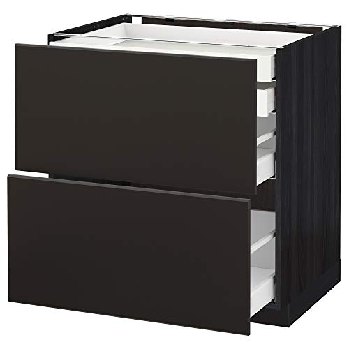 METOD/Maxim bas cb 2 frnts/2 låg/1 md/1 hi drw 80 x 61 x 88 cm svart/Kungsbacka antracit