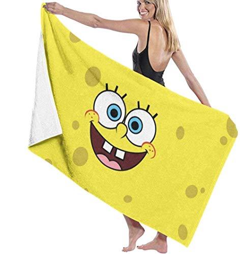 BAOYUAN0Erwachsene und KinderNette Spongebob Strandtuch Bettwäsche Bad Set Badetücher Zubehör Pool Handtuch 80*130cm Beliebtes Supergeschenk