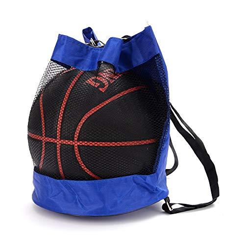 xjS Tarea Pesada Mochila de Baloncesto Oxford Paño Hombro Messenger Bag Basketball Net Bag Voleibol Bolso de fútbol Se Adapta a Interiores y Exteriores (Color : B)