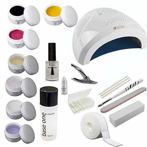 sun garden nails Kit de introducción Starterset Nail con geles de Colores – Kit de introducción para centros de Belleza – Kit de introducción Starterset Nail para manicura