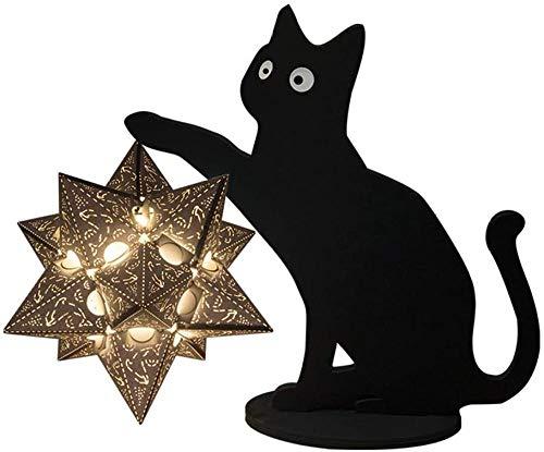 GEZHF Lámparas de talla de papel para manualidades, kit de luz nocturna LED, lámpara de mesa suave y exquisita, decoración para sala de estar, dormitorio (color: estilo 3)