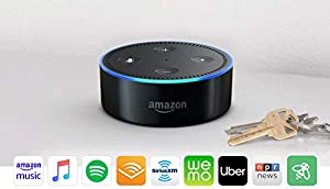 Echo Dot is a voice-controlled speaker that uses Alexa to play music, control smart home devices, make calls, answer questions, set timers and alarms, and more. Play music from Amazon Music, Apple Music, Spotify, Pandora, SiriusXM, TuneIn, and iHeart...