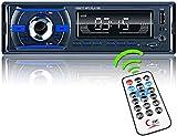 Radio Coche Bluetooth,REAKOSOUND Autoradio 1 DIN Bluetooth Manos Libres Radio Estéreo de Coche Reproductor MP3 con Control Remoto FM/USB/TF/AUX IN