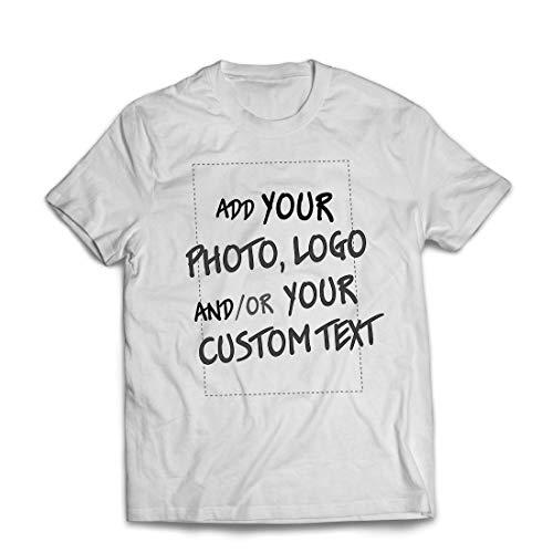 lepni.me Camisetas Hombre Regalo Personalizado, Agregar Logotipo de la Compañía, Diseño Propio o Foto (XXX-Large Blanco Multicolor)