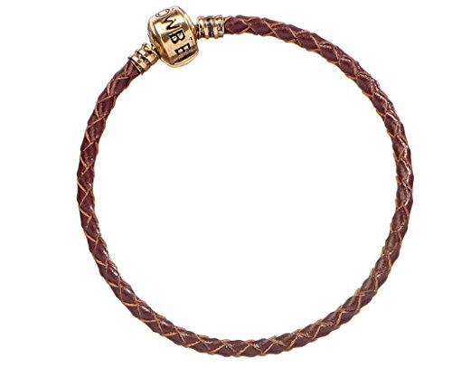 Fantastic Beasts Slider Charm Leather Bracelet brown Size XL Carat Shop Armbinden