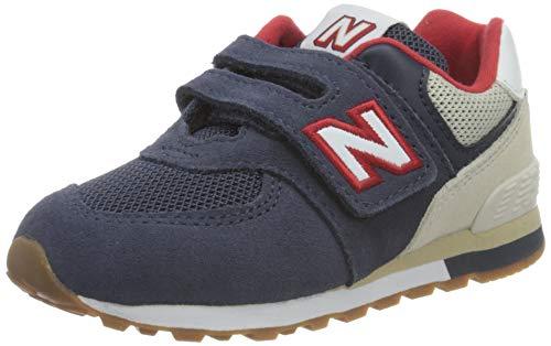 New Balance Baby-Jungen 574 Sneaker, Navy, 24 EU