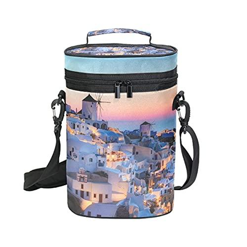 LUPINZ Grecia Santorini Caldera Sunset Paisaje bolsa de vino bolsa de transporte para vino