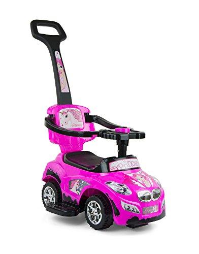 Milly Mally 3 en 1 Happy Ride On de voiture (Rose)