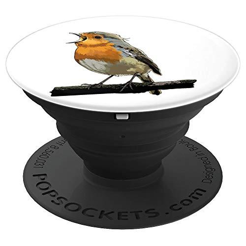 Rotkehlchen Vogel Beobachten Singvögel Geschenk - PopSockets Ausziehbarer Sockel und Griff für Smartphones und Tablets