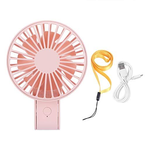 Germerse Mini Ventilador, Almacenamiento Conveniente, Plegable, Ajustable, Ventilador de Mano con ángulo de soplado para niños, Estudiantes, niños, niñas, para Oficina, Clase para(Pink)