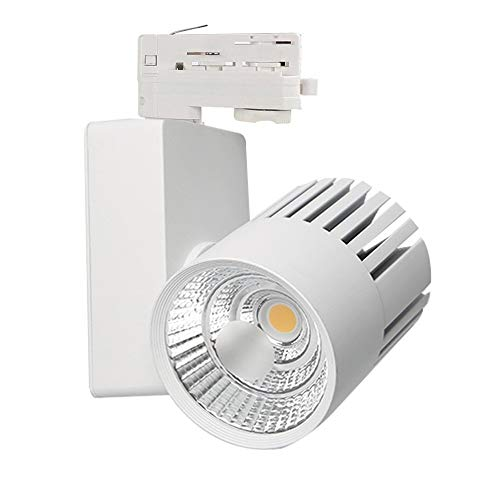 DK Multitec LED Schienenleuchte 40W Weiss 3 phasen Stromschiene Strahler CRI 80 (K4000)