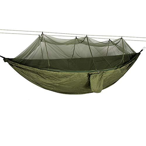Hamaca de mosquitero, doble para acampar, ligera, portátil, para senderismo, viajes, mochilero, fácil de plegar y transportar con bolsa de almacenamiento (F,260 x 140 cm)