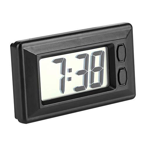 Nikou LCD Digital Clock - Ultradünnes Fahrzeug Auto Clock MiniTable Auto Armaturenbrett Schreibtisch Elektronische Uhren mit Datum und Uhrzeit Kalenderanzeige
