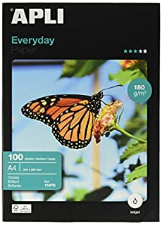 Apli Paper 11475 Papel Fotografico A4 Everyday 180GR 100H (B000GYHX8C) | Amazon price tracker / tracking, Amazon price history charts, Amazon price watches, Amazon price drop alerts