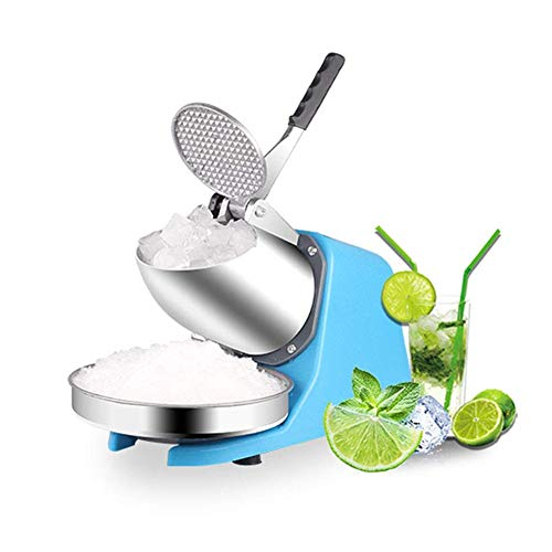 Ice blender Electric Ice Crusher Machine Shaver Snow Cone Ice Block Making Machine Blender Household Commercial Ice Slush Sand Maker for Ice Tea Shop Double Blades best gift