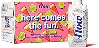 Flow Alkaline Spring Water, Organic Watermelon + Lime, 100% Natural Alkaline Water pH 8.1, Electrolytes + Essential Minera...