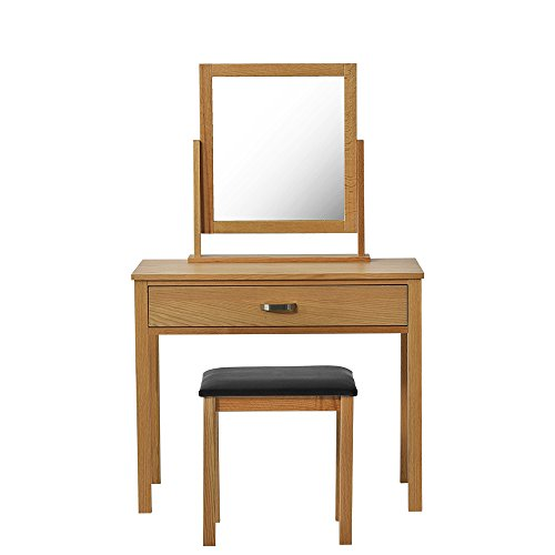 XJLLOVE Dresser, Log Commode, Kast Met Spiegel En Ontlasting, 1 Lade 90 * 75 * 45Cm