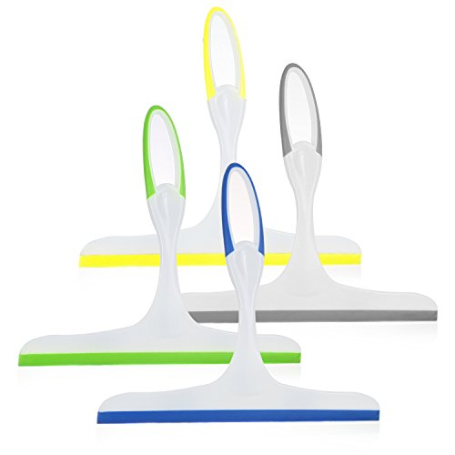 Rubber Squeegees Pack of 4: Streak-Free Handheld Squeegee Cleaner with 9.5