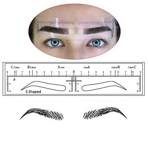 Microblading Augenbrauen Schablonen Aufkleber Permanent Makeup Supplies Einweg Augenbrauenform Vorlage Zeichenanleitung 10 Stück