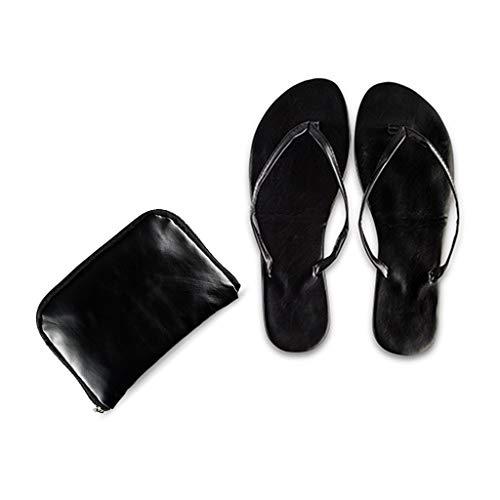 Flip Flops Pocket Shoes Schwarz Small Brautschuhe - Damen Schwarz Flach Wechselschuhe Gr. 35-37