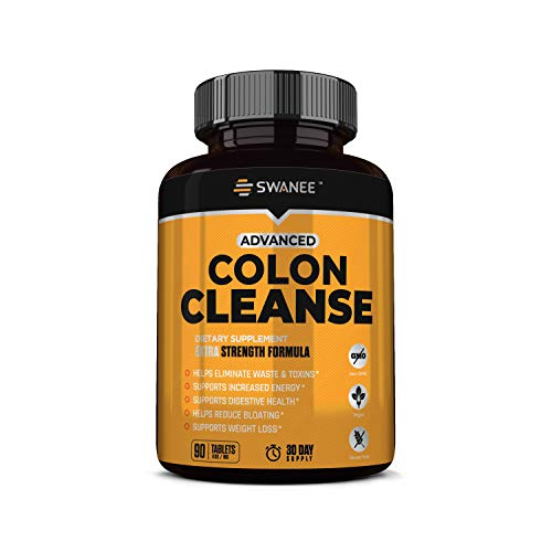 Advanced Colon Cleanse for Regularity, Weight Loss, Full Body Detox, Bloating and Complexion 90 Tablets