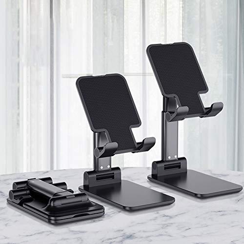Suporte de celular Decdeal dobrável com altura ajustável e estável para mesa portátil compatível com celular/iPad/Tablet