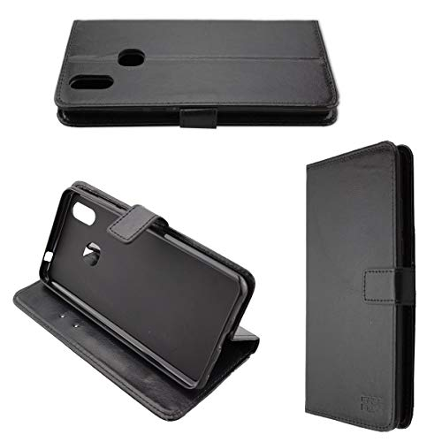 caseroxx Handy Hülle Tasche kompatibel mit Cubot Max 2 Bookstyle-Hülle Wallet Hülle in schwarz
