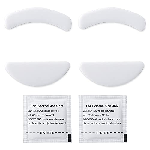 2 Sets White Rounded Curved Edges Mouse Feet Pads Skates Compatible for Viper Mini Gaming Mouse