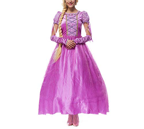 Mitef Rapunzel - Disfraz Infantil de Princesa de Cuento de Hadas para Halloween, Cosplay para Padres e Hijos