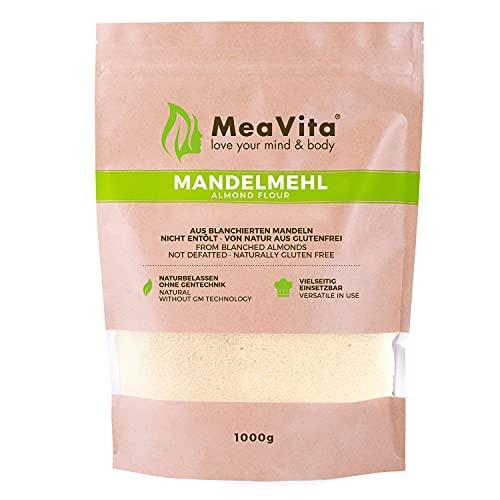 Farine d'amandes MeaVita, naturelle, blanchie, 1 paquet (1 x 1000g) en sachet