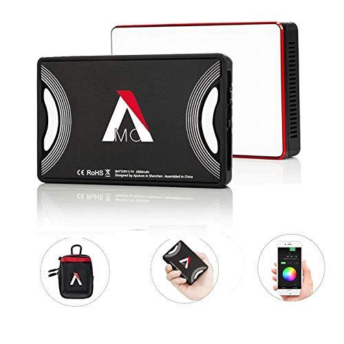 Aputure AL-MC RGBWW Mini, Amaran AL-M9 Upgrade w/RGB On-Camera Video Light, TLCI/CRI 95+, 3200-5600K Adjustable, 0-100% Stepless Dimming, 9 Pre-Programmed Lighting Effect Mode, Wireless App Control