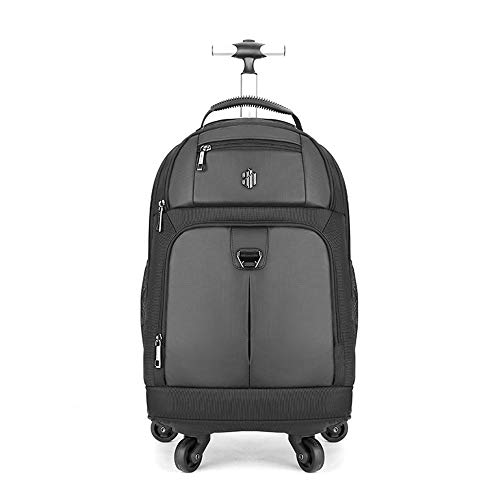 Arctic Hunter Glob Unisex Adult Trolley Backpack - Black