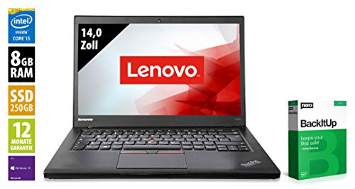 Preisvergleich Produktbild Lenovo ThinkPad T450s / Notebook / 14, 0 Zoll / Intel Core i5-5300U @ 2, 3 GHz / 8GB RAM / 250GB SSD / WSXGA (1600x900) / Webcam / Windows 10 Pro (Zertifiziert und Generalüberholt)