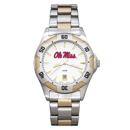NCAA Mississippi Old Miss Rebels All-Pro Zweifarbige Herren-Armbanduhr