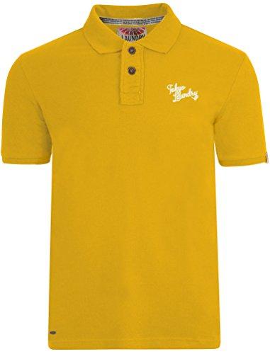Tokyo Laundry, maglia polo estiva da uomo in piqué a maniche corte Yellow Medium