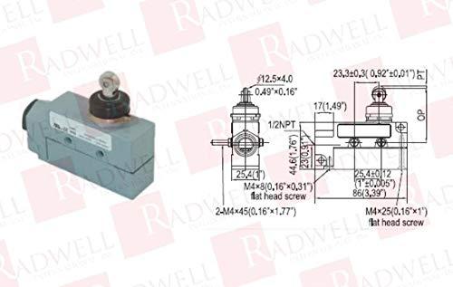 RADWELL Tulsa Mall VERIFIED SUBSTITUTE E47BLS08-SUB IP65 Popular standard 1 Roller Plunger