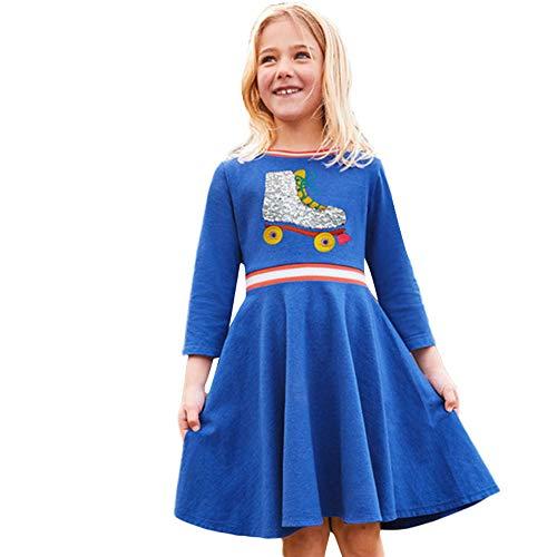 JERFER JERFER Baumwolle Langärmelig Kinder Kinder Mädchen Frühling Bling Freizeit kleidung
