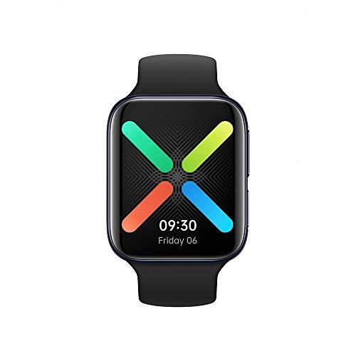 OPPO Smartwatch 46 mm LTE, Curved Display AMOLED GPS NFC Bluetooth 4.2 WiFi Wear OS by Google, Schnellladefunktion VOOC, schwarz