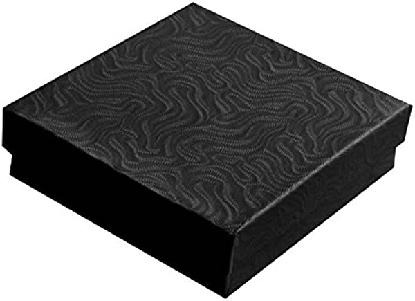 Swirl Black Cotton Filled Jewelry Boxes 33 Pack Of 100