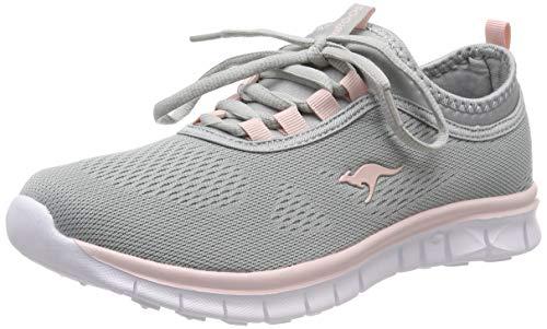 KangaROOS Damen K-Run Neo Sneaker, Grau (Vapor Grey/English Rose 2043), 38 EU