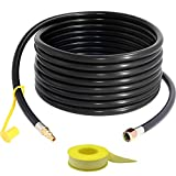 24FT 1/4' Propane Quick Connect/Disconnect Hose for RV to Grill, Propane Line Quick Connect Fitting with 3/8' Female Flare,RV Propane Quick