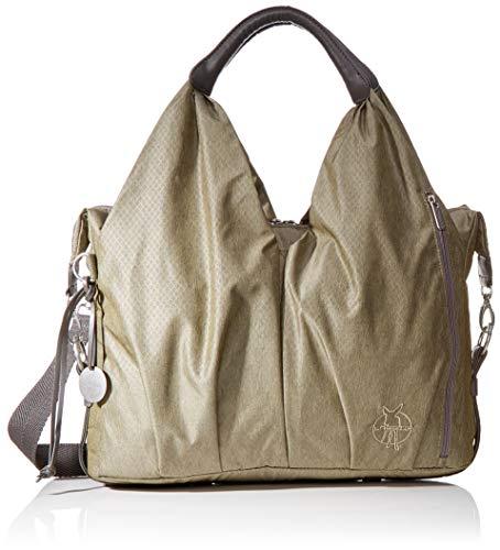 LÄSSIG Baby Wickeltasche nachhaltig inkl. Wickelzubehör nachhaltig produziert/Green Label Neckline Bag, gold mélange